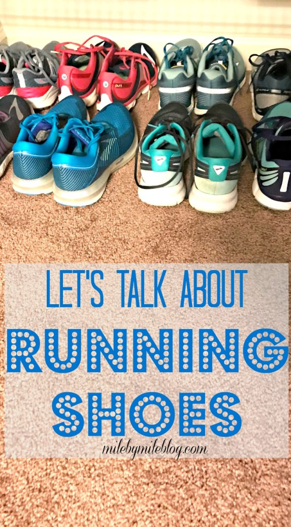 Let's talk about running shoes! What are your favorites? Do you wear one brand or like to try out different ones? Click post to read about which shoes I've been running in lately! #run #running #runningshoes