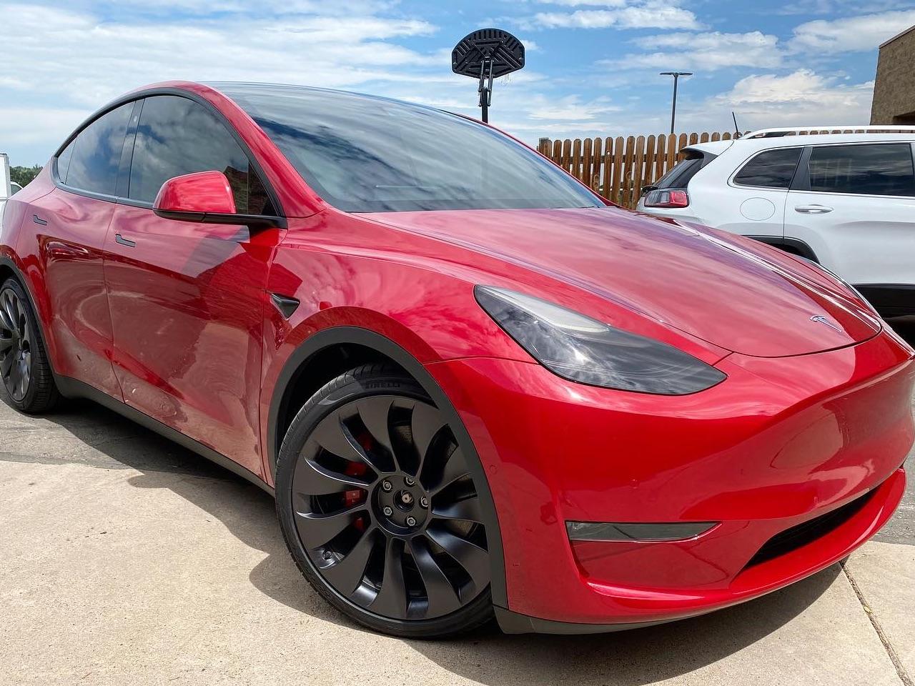 Tesla clear bra and window tinting