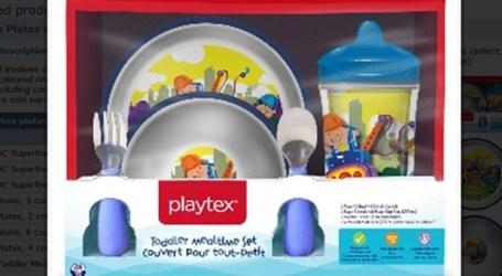 Emitida ordem de recolha de pratos e tigelas de plástico Playtex por representarem um risco de asfixia para crianças