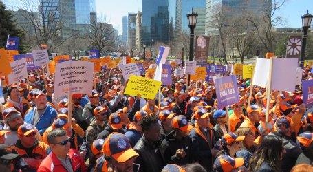 8 mil membros da LiUNA em manifestação no Queen's Park