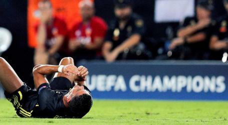Cristiano Ronaldo em lágrimas após expulsão frente ao Valência