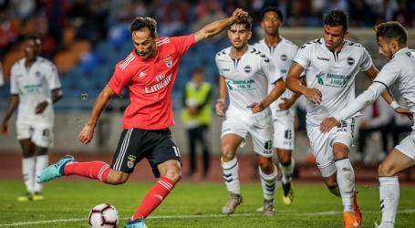 Benfica vence Sertanense no regresso de Jonas aos golos