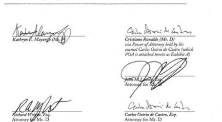 """""""Der Spiegel"""" revela acordo assinado entre Ronaldo e alegada vítima"""