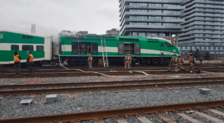 Engine fire on GO Train suspends commuter service on Lakeshore East