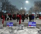 Workers protest Oshawa plant closure at General Motors HQ