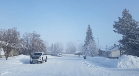It wasn't exactly business as usual Monday in the coldest place in Alberta