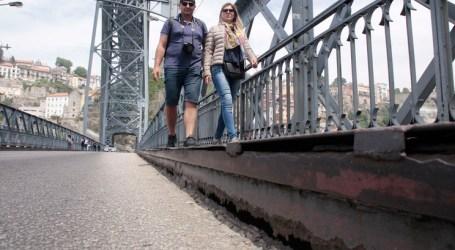 """Turista tropeça em """"metal solto"""" na Ponte Luís I e fica internada"""