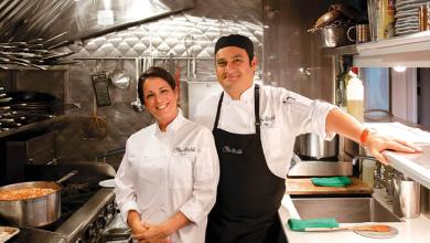 Cristina da Costa e Hugo Saenz do Flor de Sal Restaurant