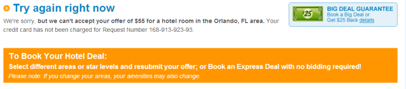 Try Again Priceline