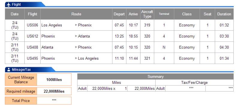 LAX-PHX-ATL-PHX-LAX is 3915 miles flown.