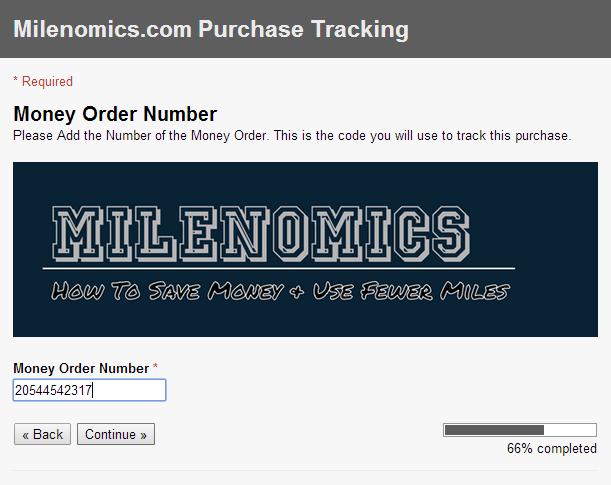 Money Order Purchase 1