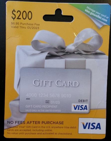 $200 Visa GC