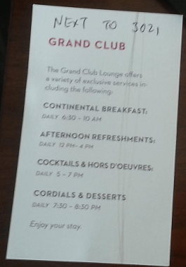 "Schedule of the ""Grand"" Club"
