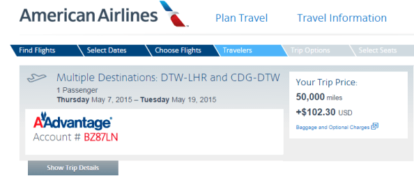 Even lower DTW-LHR-CDG-DTW