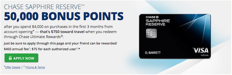 Chase Sapphire Denial Offer