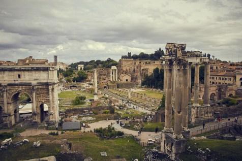 Forum Romanum, Ruinen, Sightseeing, Rom Kurztrip zu Ostern, Blick, Aussicht, Rom, Roma, Italien, Sehenswürdigkeit, Must See, Miles and Shores