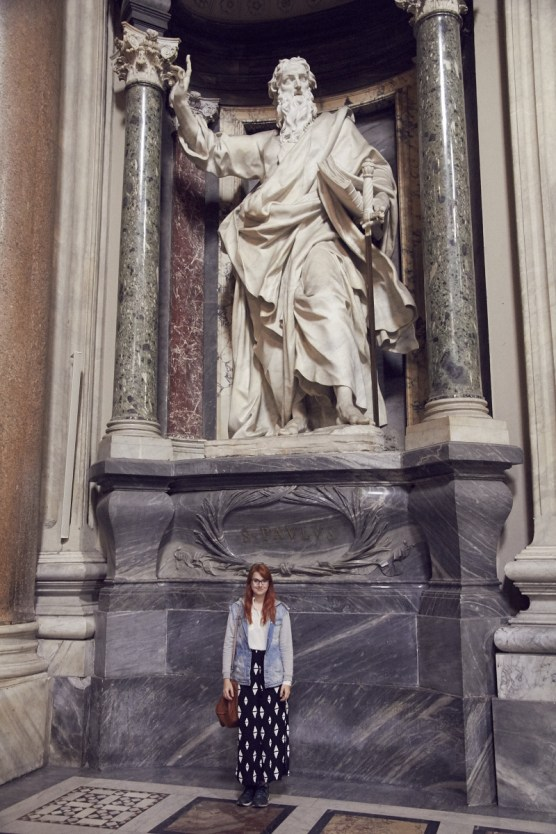 Statue, riesig, Apostel, heilig, Lateran, Rom, Vergleich, Chrisi, Miles and Shores,