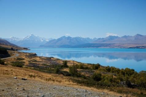 Lake Pukaki, Neuseeland, New Zealand, Mount Cook, turquoise, türkies, See, Gletschersee