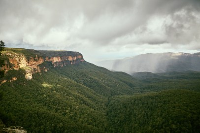 Blue Mountains, Sydney, New South Wales, Aussicht, view, regnerisch, Regen, wandern, hiking, backpacking