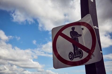 Brisbane, no segway, forbitten, verboten, victoria bridge, Brücke, Verkehr