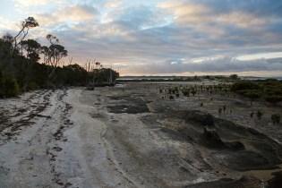 Strand, Ebbe, Sonnenuntergang, Ebene, Wanderweg, Millers Landing Track,