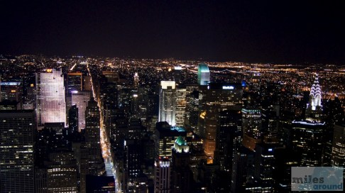 5th Ave. vom Empire State Building bei Nacht