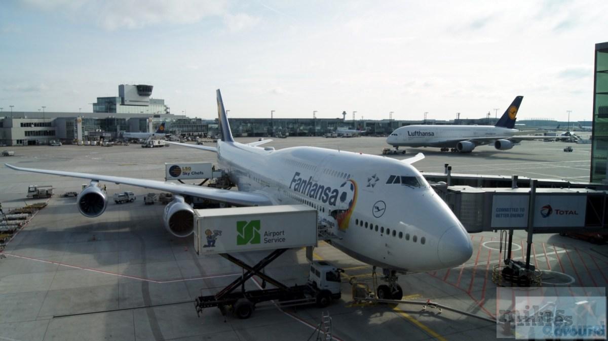 Lufthansa Boeing 747-8 класса Economy, Лос-Анджелес Франкфурт