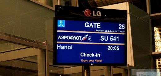 Our departure gate to Hanoi