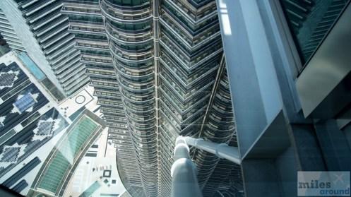 Verankerung der Skybridge der Petronas Towers