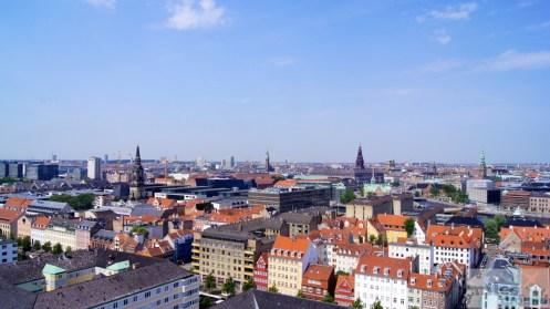 toller Panoramablick über Kopenhagen - Vor Frelsers Kirke (Erlöser-Kirche)