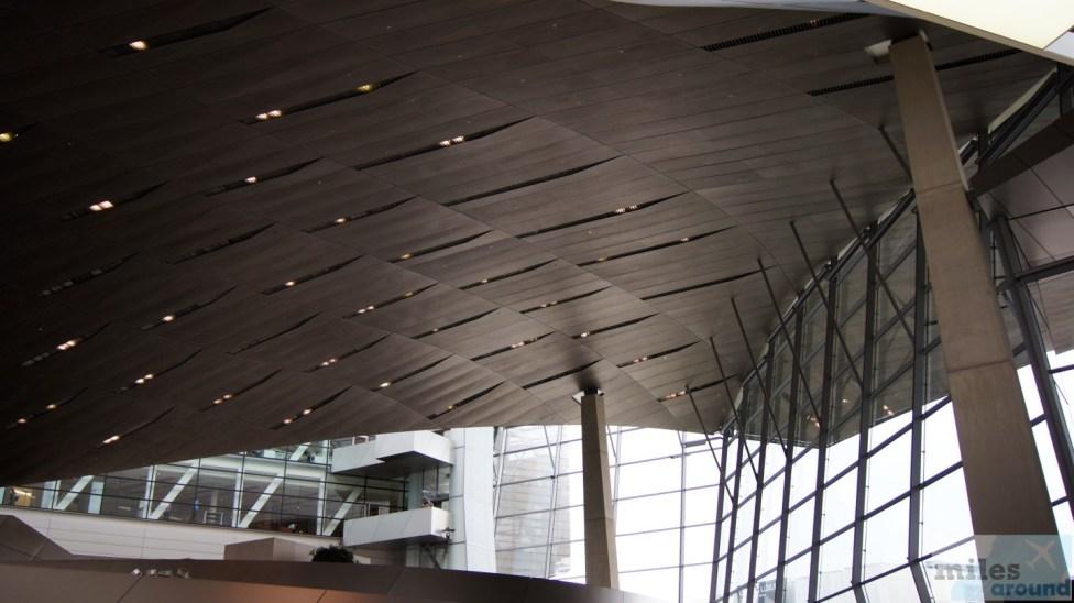 Dachkonstruktion der BMW-Welt München