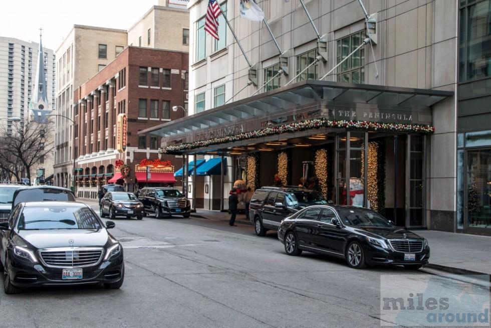 La entrada en la esquina de la calle Michigan Superior Avenue