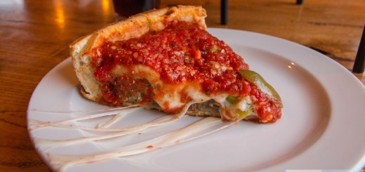 Piece deep-dish pizza