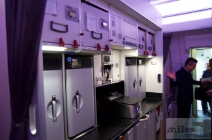 Empfang an 2L / vordere Galley (Singapore Airlines A350)