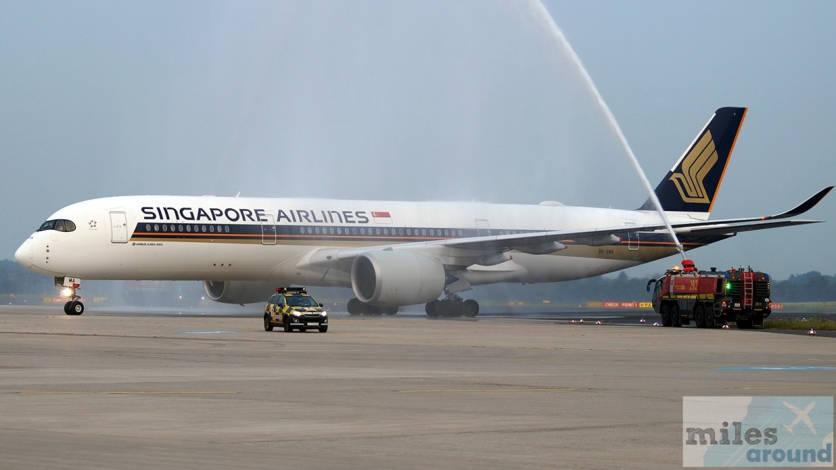 Eerste vlucht: Singapore Airlines Airbus A350-900 Business Class