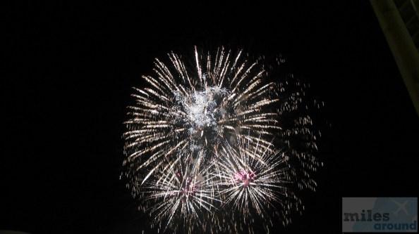 Blick von unserem Balkon auf das Feuerwerk zum Nationalfeiertag