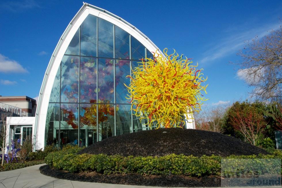 Buitenkant van de Chihuly Garden and Glass Museum
