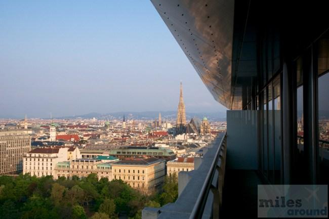 Balkon im Hilton Vienna