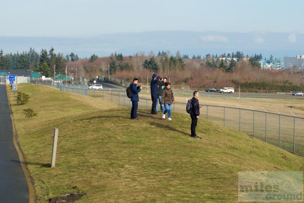 Aussichtshügel am Flughafen Paine Field