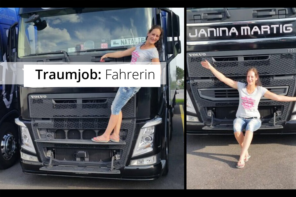 Natalie LKW-Fahrerin bei Janina Martig