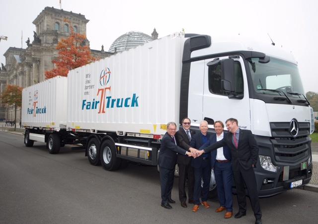 Fair Truck in Berlin. Die App soll nicht bloss in der Branche bekannt werden. Im besten Fall nimmt auch die Bundeskanzlerin Kenntnis davon ;)