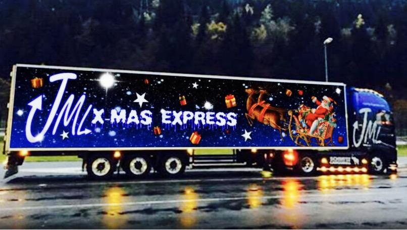 JML-Christmas-Truck, Bild: Janina Martig Logistics