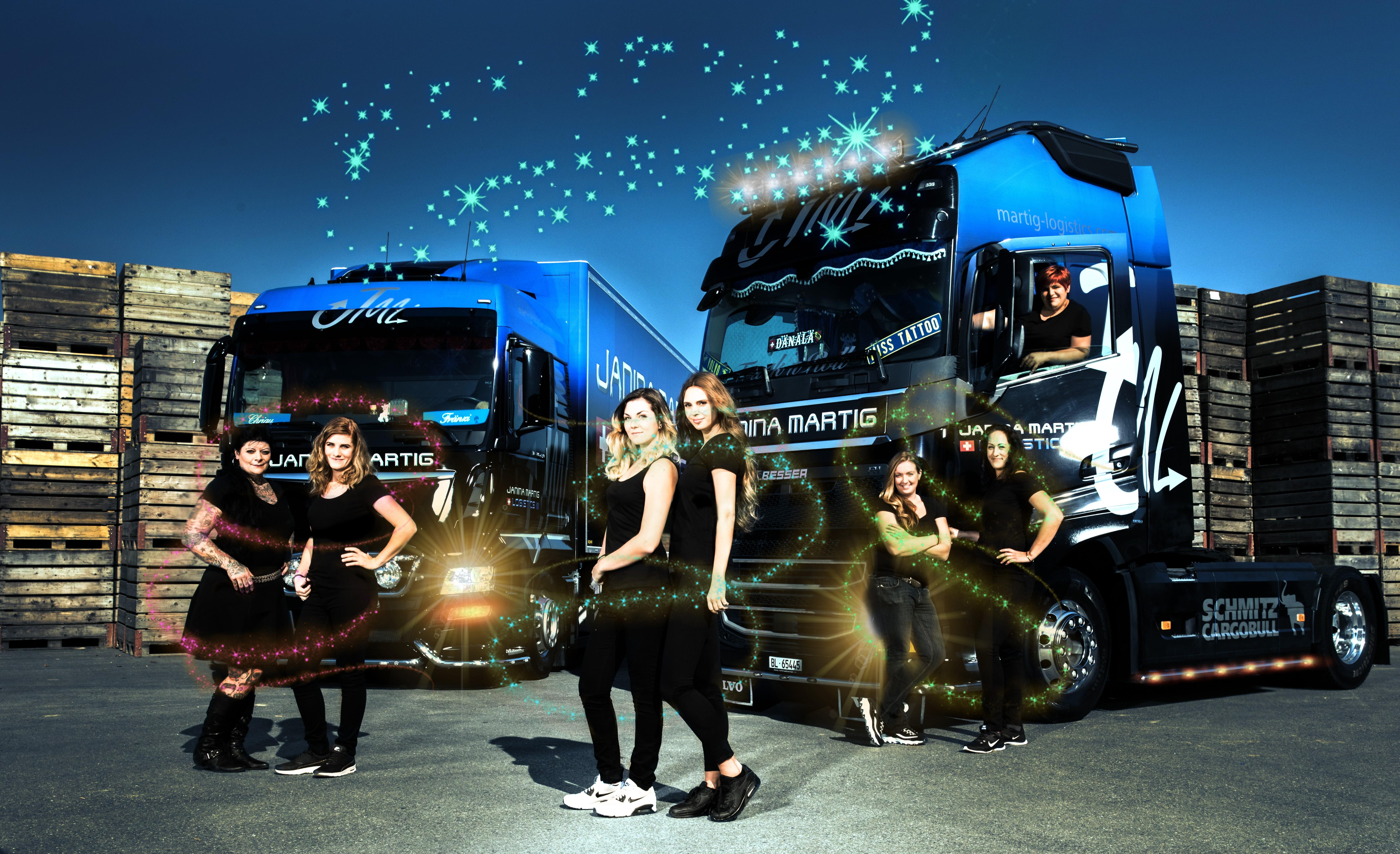 Die Ladies von JML wünschen allen Truckern coole Feiertage, Bild: JML