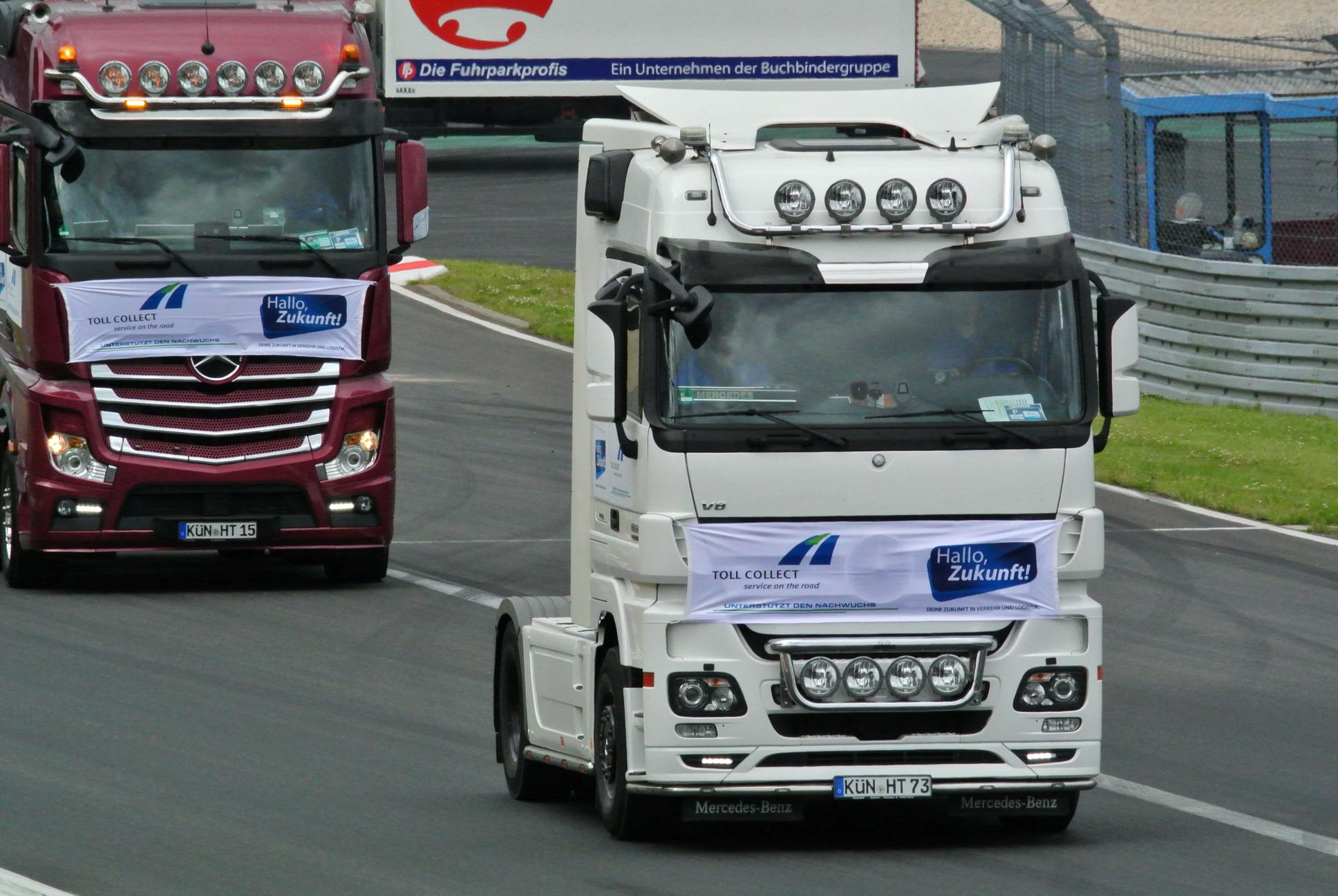 LKW-Power auf dem Nürburgring, ©Toll Collect GmbH
