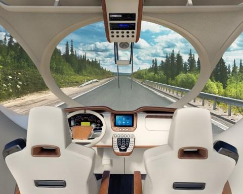Auch im Cockpit finden sich die runden, geschwungenen Formen, ©Marichi Mobile