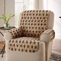 Paw Print Recliner cover - Pet Furniture Covers - Miles ...
