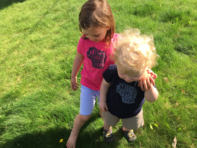 Miles Paddled Kids T-Shirts