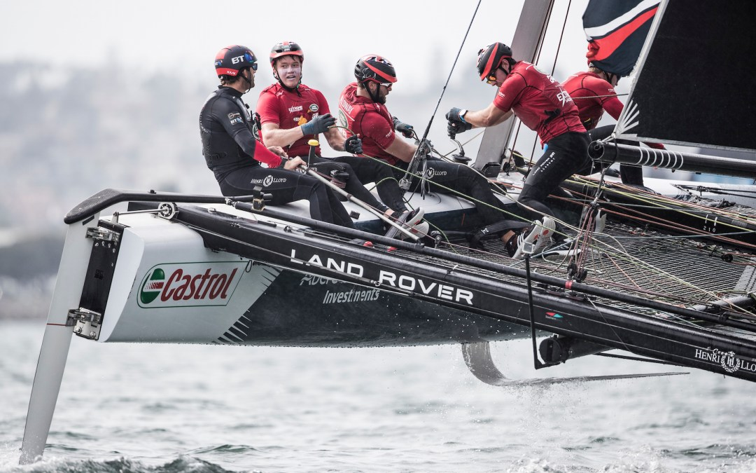 Stow Away on Land Rover BAR Academy's Extreme Sailing Catamaran