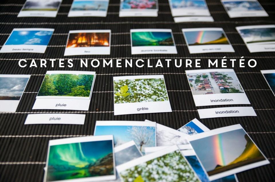 Cartes de nomenclature météo à télécharger