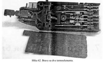 Slika iz knjige: brava sa sa dva termoelementa - elektronski moduli veš mašina